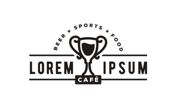 Download Free Cup Beer Vintage Trophy Sport Bar Logo Graphic By Enola99d for Cricut Explore, Silhouette and other cutting machines.