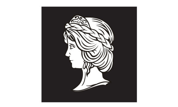 Download Free Greek Myth Woman God Goddess Head Logo Graphic By Enola99d for Cricut Explore, Silhouette and other cutting machines.