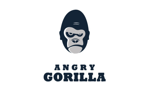 Download Free Grumpy Angry Gorilla Monkey Apes Logo Graphic By Enola99d for Cricut Explore, Silhouette and other cutting machines.