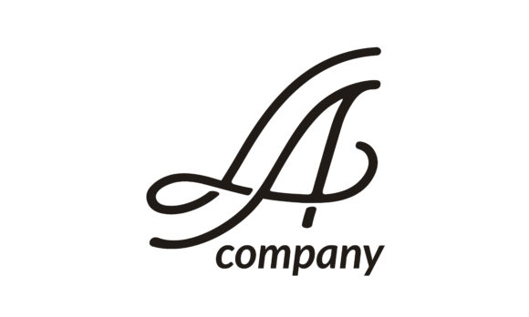 Download Free Monogram Initials La Beauty Logo Graphic By Enola99d Creative for Cricut Explore, Silhouette and other cutting machines.
