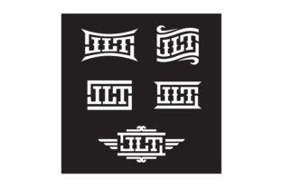 Print on Demand: Typography Initial Jlt Western Logo Graphic Logos By Enola99d
