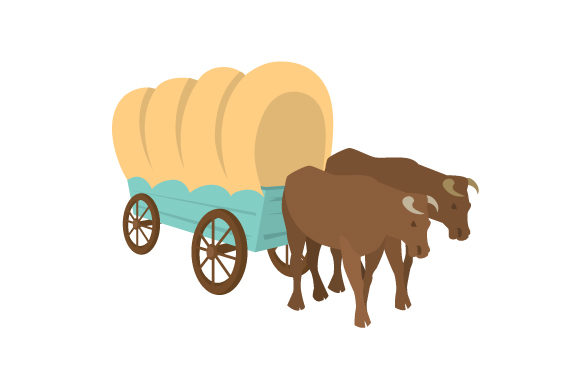 Oregon Trail Wagon Farm & Country Craft Cut File By Creative Fabrica Crafts