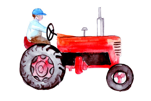 Farmer Riding Tractor Farm & Country Craft Cut File By Creative Fabrica Crafts