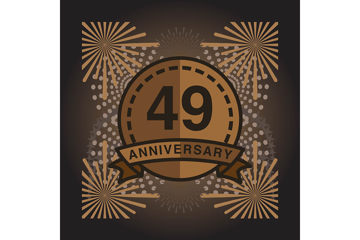 Download Free 49 Anniversary Poster Banner Vector Grafik Von for Cricut Explore, Silhouette and other cutting machines.