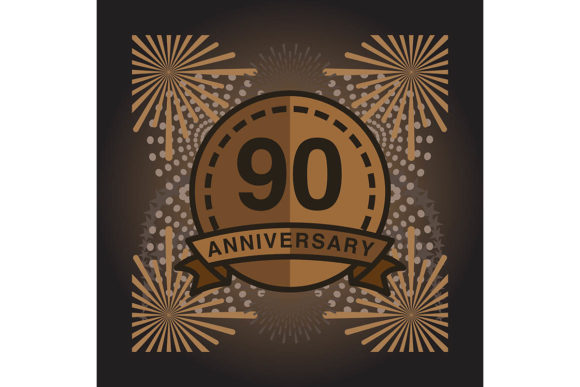 Print on Demand: 90 Anniversary Poster Banner Vector Graphic Backgrounds By yahyaanasatokillah