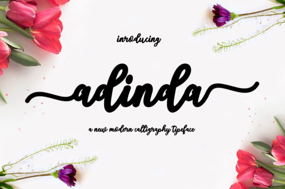 Print on Demand: Adinda Script & Handwritten Font By saidi studio