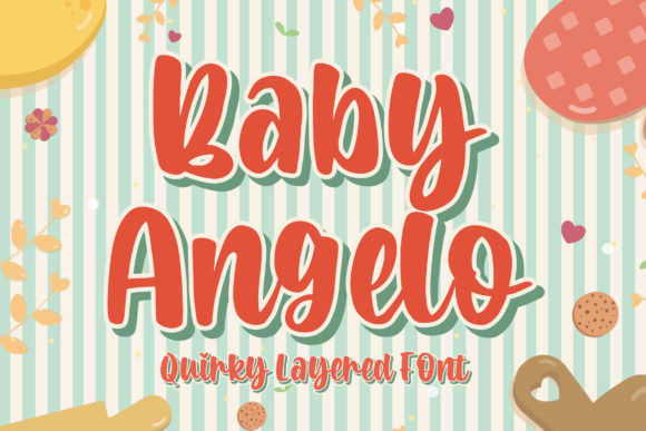 Download Free Baby Angelo Font By Blankids Studio Creative Fabrica for Cricut Explore, Silhouette and other cutting machines.
