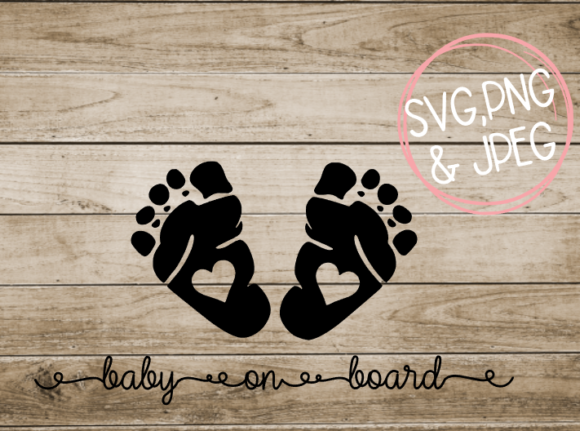 Download Free Baby On Board Grafik Von Amberayse Creative Fabrica for Cricut Explore, Silhouette and other cutting machines.