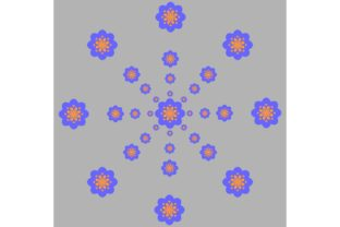 Download Free Blue Yellow Pattern With Light Ash Graphic By Designclusters for Cricut Explore, Silhouette and other cutting machines.