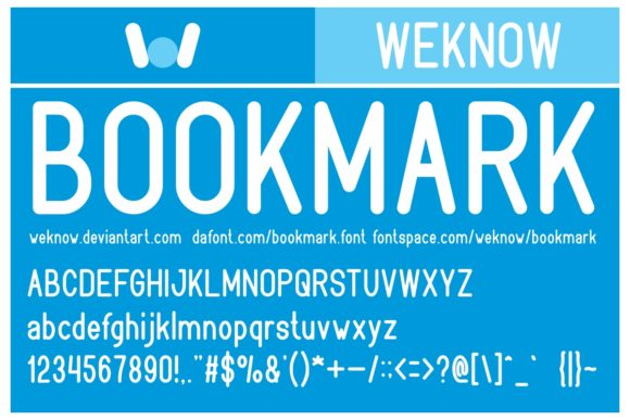 Print on Demand: Bookmark Sans Serif Font By weknow