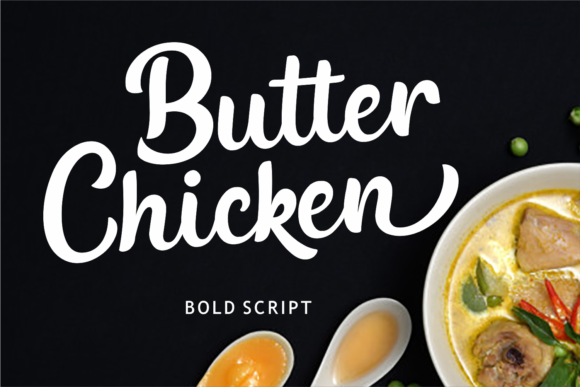 Print on Demand: Butter Chicken Script & Handwritten Font By Girinesia
