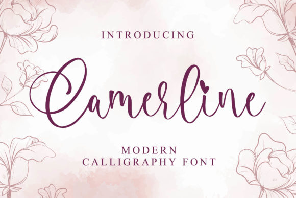 Print on Demand: Camerline Script & Handwritten Font By Blankids Studio
