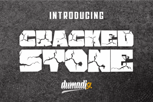 Download Free Cracked Stone Font By Dumadi Creative Fabrica for Cricut Explore, Silhouette and other cutting machines.