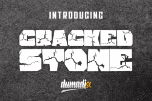 Print on Demand: Cracked Stone Display Font By DUMADI