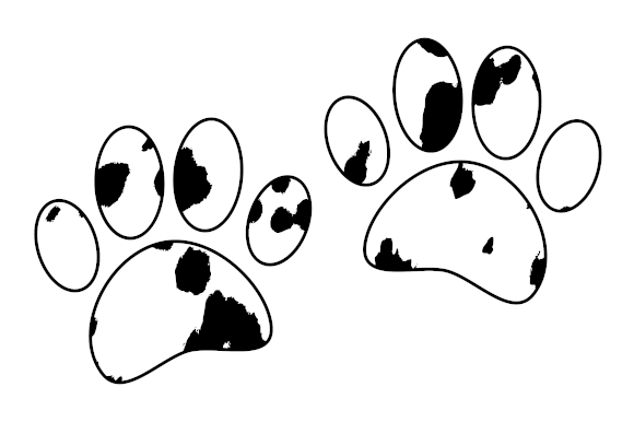 Download Free Dalmatian Puppy Paw Print Graphic By Almdrs Creative Fabrica for Cricut Explore, Silhouette and other cutting machines.