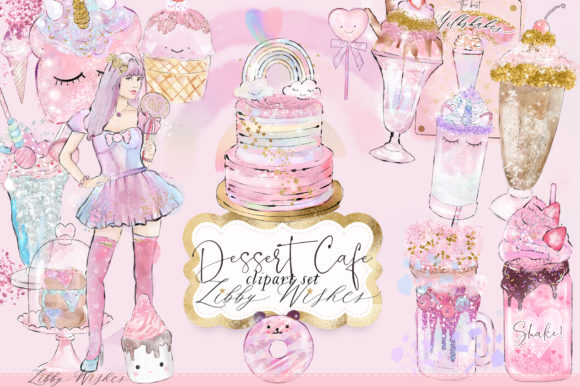 Print on Demand: Desset Cafe Clipart Illustrations Graphic Illustrations By libbywishes