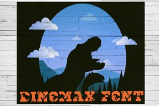 Download Free Dinomax Fuente Por Ktwop Creative Fabrica for Cricut Explore, Silhouette and other cutting machines.