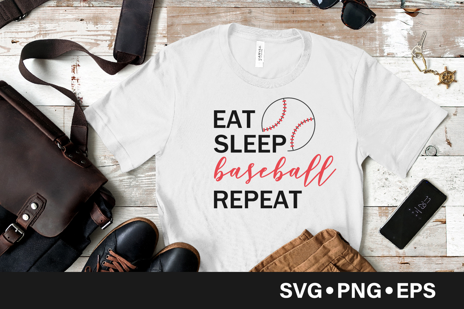 Download Free Eat Sleep Baseball Repeat Quote Grafico Por Vectorbundles for Cricut Explore, Silhouette and other cutting machines.