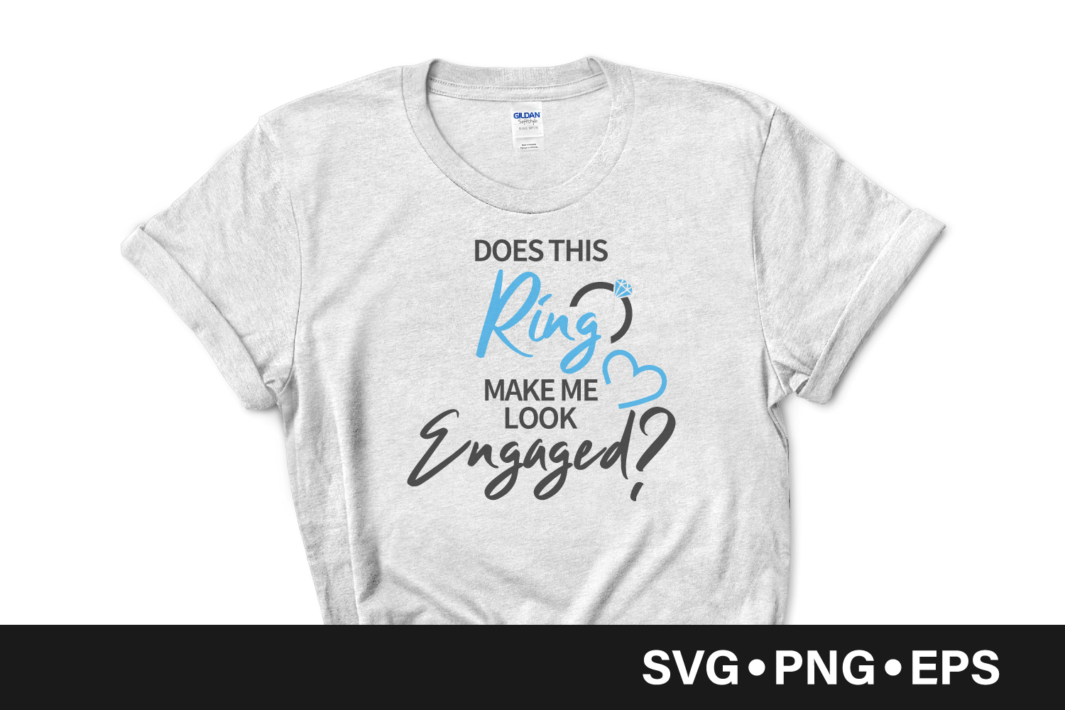 Download Free Engagement Ring Quote Graphic By Vectorbundles Creative Fabrica for Cricut Explore, Silhouette and other cutting machines.