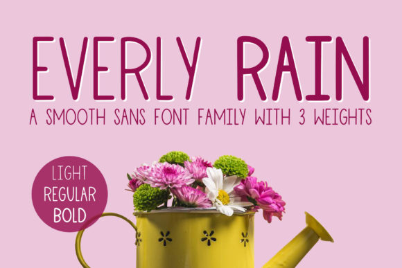 Print on Demand: Everly Rain Sans Serif Font By jordynalisondesigns