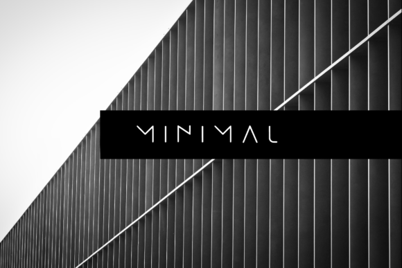 Print on Demand: Minimal Sans Serif Font By moonbandit
