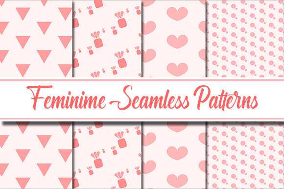 Download Free Feminine Patterns Graphic By Masyafi Creative Studio Creative for Cricut Explore, Silhouette and other cutting machines.