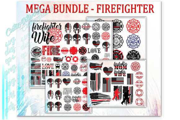 Firefighter Fireman Graphic Print Templates By cuteartworkdesigns