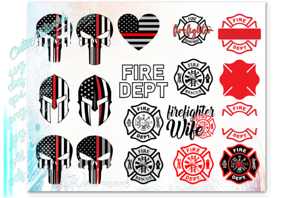 Print on Demand: Firefighter Fireman Graphic Print Templates By ezzyDesigns - Image 2