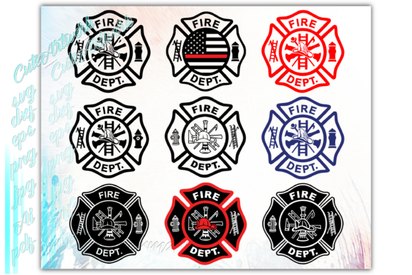 Print on Demand: Firefighter Fireman Graphic Print Templates By ezzyDesigns - Image 3