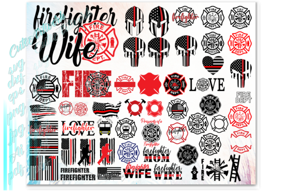 Print on Demand: Firefighter Fireman Graphic Print Templates By ezzyDesigns - Image 4