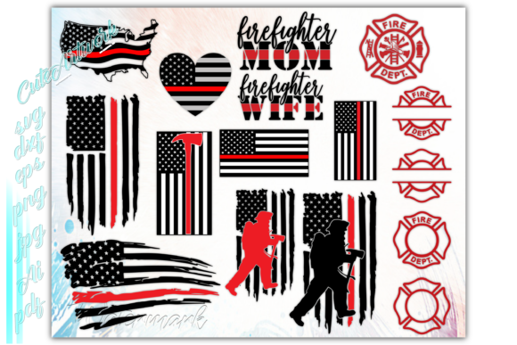 Print on Demand: Firefighter Fireman Graphic Print Templates By ezzyDesigns - Image 5