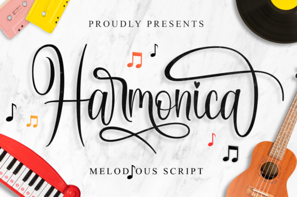 Print on Demand: Harmonica Script & Handwritten Font By IklazStudio