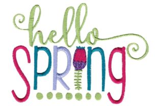 Hello Spring Spring Embroidery Design By Bunnycup Embroidery