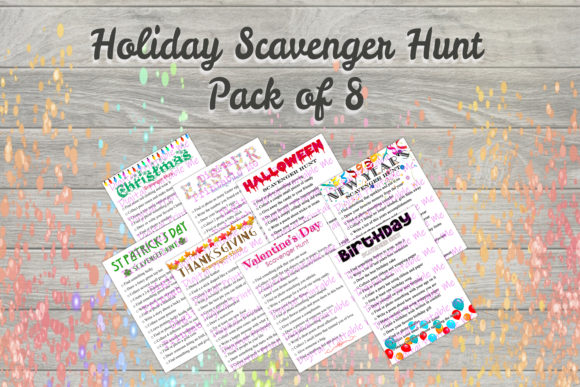 Print on Demand: Holiday Scavenger Hunt Pack 8 Games Graphic Crafts By DigitalPrintableMe
