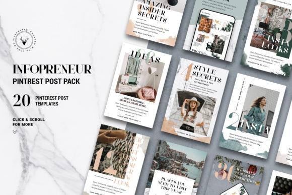 Download Free Infopreneur Pinterest Posts Pack Grafico Por Silverstag for Cricut Explore, Silhouette and other cutting machines.