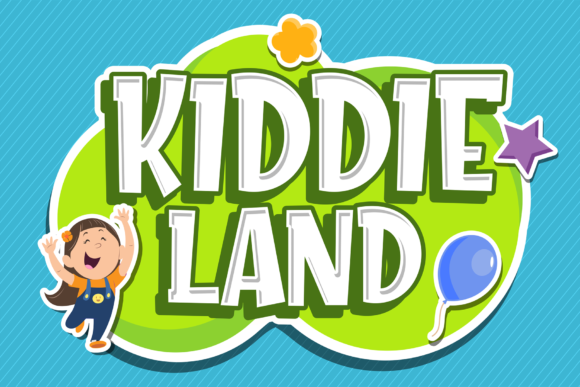 Print on Demand: Kiddie Land Display Font By figuree studio