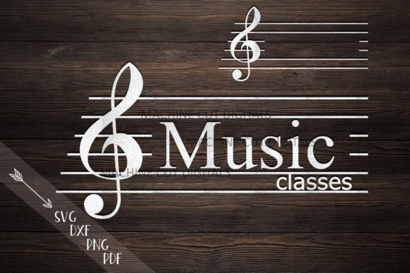 Music Key Monogram Frame for Name Graphic Crafts By Cornelia