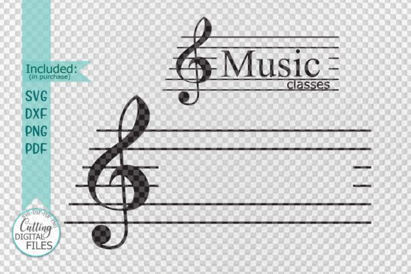 Download Free Music Key Monogram Frame For Name Graphic By Cornelia Creative for Cricut Explore, Silhouette and other cutting machines.
