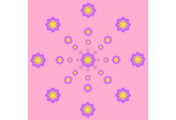 Download Free Purple Yellow Pattern With Light Rose Graphic By Designclusters for Cricut Explore, Silhouette and other cutting machines.