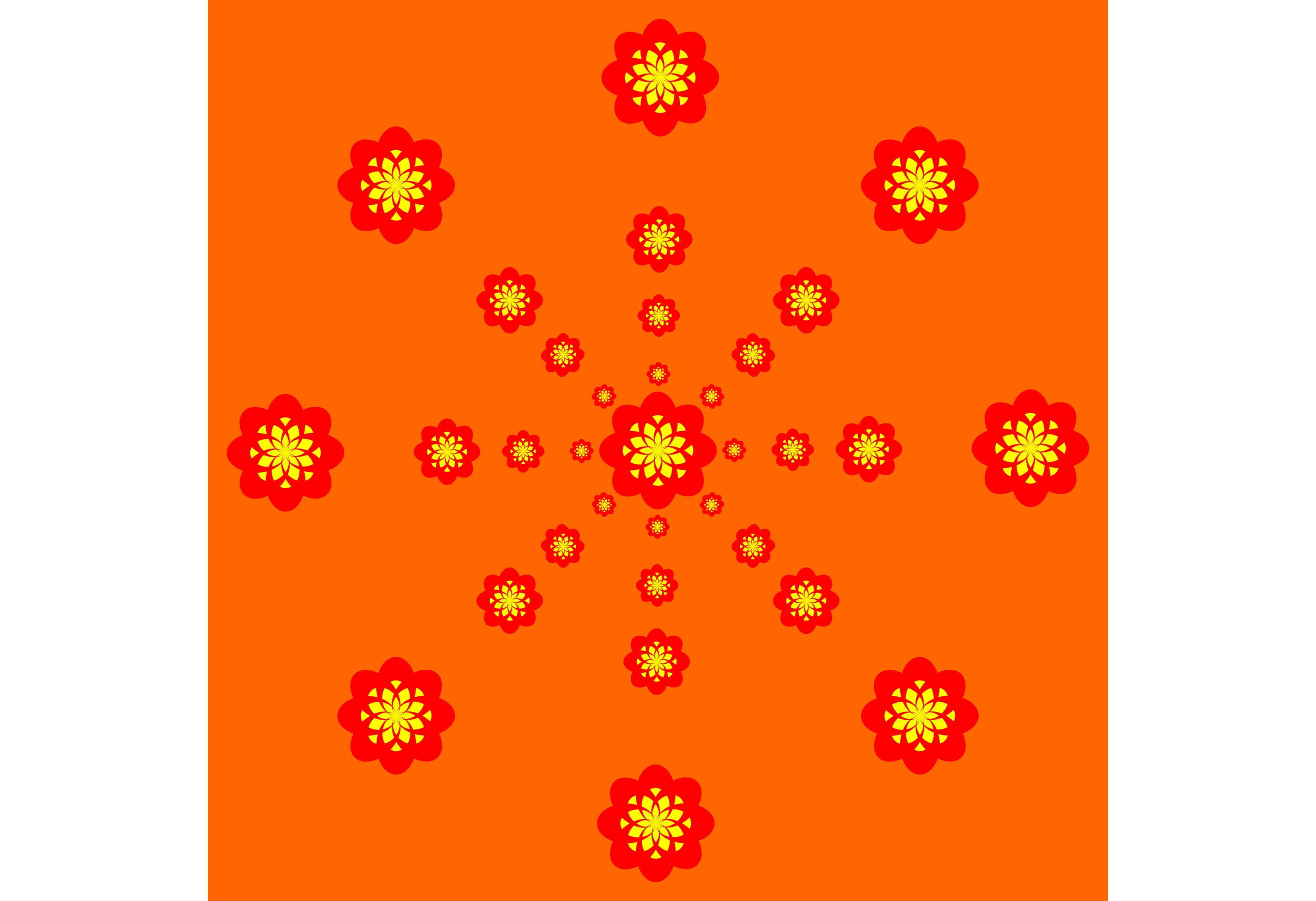 Download Free Red Yellow Pattern With Orange Graphic By Designclusters for Cricut Explore, Silhouette and other cutting machines.