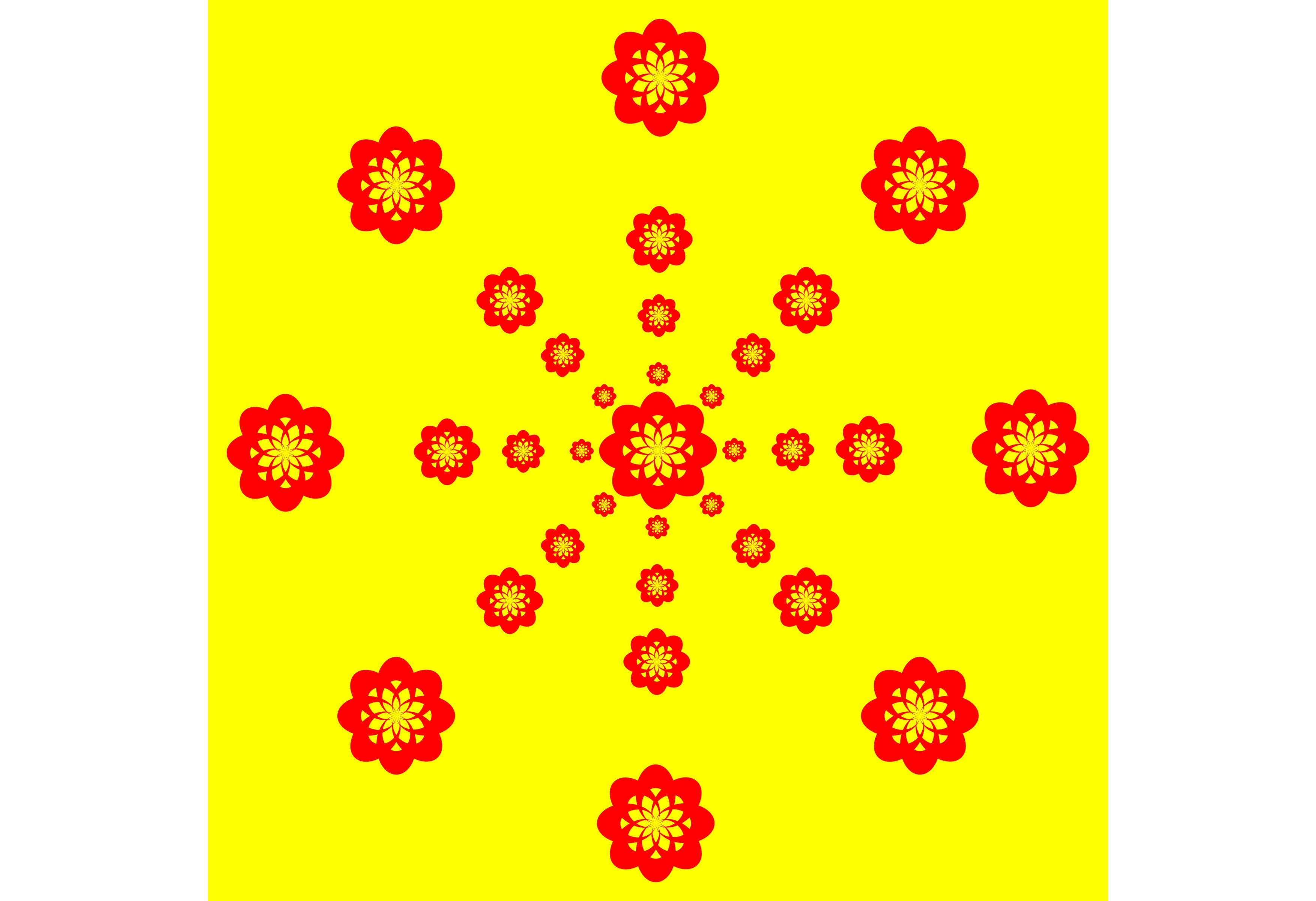 Download Free Red Yellow Pattern With Yellow Graphic By Designclusters for Cricut Explore, Silhouette and other cutting machines.