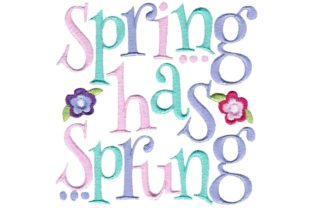 Spring Has Sprung Spring Embroidery Design By Bunnycup Embroidery