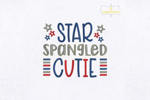 Star Spangled Cutie Independence Day Embroidery Design By RoyalEmbroideries