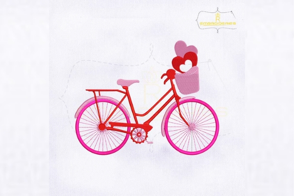 Download Free Valentine Love Pink Cycle Creative Fabrica for Cricut Explore, Silhouette and other cutting machines.