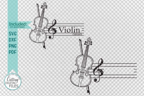 Download Free Violin Music Classes Monogram Frame Graphic By Cornelia for Cricut Explore, Silhouette and other cutting machines.