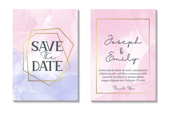 Download Free Wedding Luxury Invitations Watercolor Graphic By Frog Ground for Cricut Explore, Silhouette and other cutting machines.