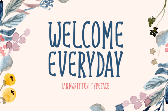 Print on Demand: Welcome Everyday Display Font By Seemly Fonts