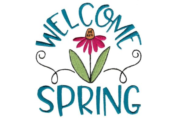 Welcome Spring Spring Embroidery Design By Bunnycup Embroidery