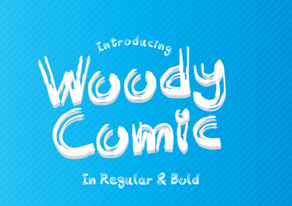Print on Demand: Woody Comic Sans Serif Font By GraphicsBam Fonts
