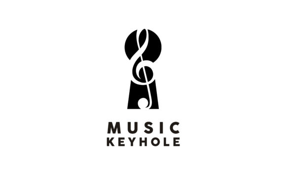 Download Free Music Note Treble Clef With Keyhole Logo Graphic By Enola99d for Cricut Explore, Silhouette and other cutting machines.